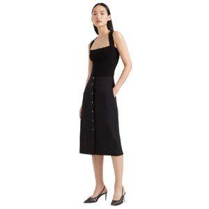 NWT Club Monaco Accent Button Pencil Skirt Black